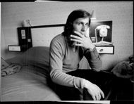 Ilie Nastase sits in his hotel room and reflects on being disqualified in the quarterfinals of the Coca Cola British Harcourt Championships