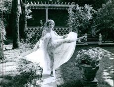 A picture of Gisele Pascal, dancing. August 3, 1961