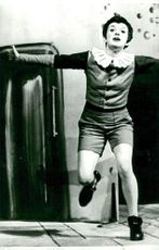 Anita Wall in the role of Pinocchio on the dramatic stage