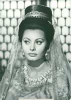 """Actress Sophia Loren in the movie """"The fall of the Roman Empire"""""""