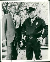 Sidney Poitier with Rod Steiger In the Heat of the Night