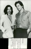 "Bianca Jagger and Ryan O'Neal face the movie ""The Ringer"""