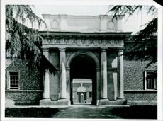 Entrance to the stables at Goodwood House