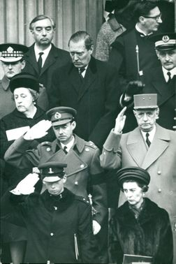 Margaret Thatcher was at the funeral of Winston Churchill, 1965