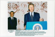 Wax cabinets on presidents Nixon and Clinton