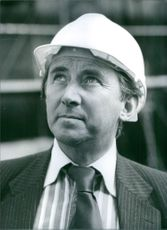 A steel helmet for British politician, David Steel, M.P. 1983.