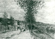 Works by Sisley: Landscape.