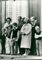 Queen Juliana with part of the big family