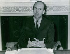 Portrait of Giscard d'Estaing.