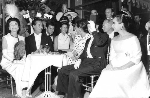 The Duchess of Windsor joining a party