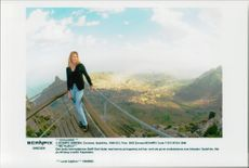 German tennis player Steffi Graf in South Africa at the viewing point