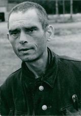 A portrait of a German soldier prisoner in Russia after the war, 1947.