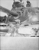 American armor of unknown model.