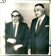 Lord George Brown with President Gamal Abdel Nasser
