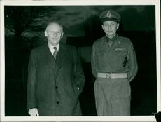 Field Marshal Lord Montgomery with a military man