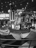 Subaru car with parts disassembled during Tokyo Motor Show.  - 1968