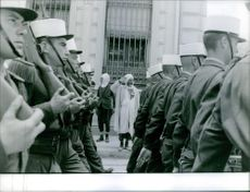 A group of soldier marching.1962
