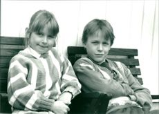 Lisen Arnell and Johan Widerberg who play Ebba and Didrik in the TV series Ebba & Didrik