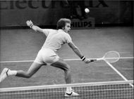 Ray Moore during the final against Sandy Mayer in Stockholm Open 1977