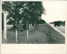 Mazabuka road sign during 1965's Zambia Crisis