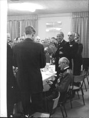 Bernard Montgomery received a gift from his fellow officers.
