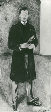 Self portrait Edvard Munch