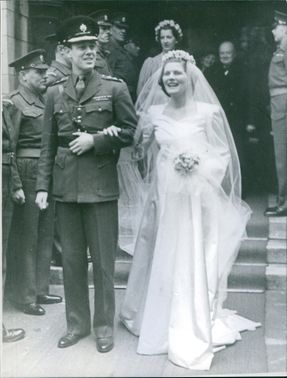 Christopher Soames and Mary Soames on their wedding day.