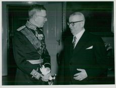 The Swedish King Charles Gustaf VI Adolf and Queen Louise visit Finland in 1952.