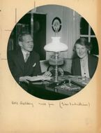 The author Olle Hedberg and his wife Ruth