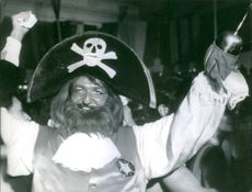 A man in a pirates costume during The Carnival in Rio de Janeiro.