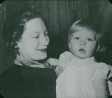 Josephine Charlotte with her daughter Princess Marie Astrid