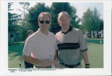 Boris Becker together with Kevin Costner in Monaco.
