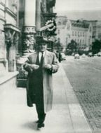 On the afternoon walk in Vienna: Vjatjeslav Molotov, former Russian Foreign Minister, now ambassador to the International Atomic Energy Agency