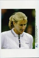 Steffi Graf plays in Wimbledon