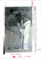 Golfer Ian Baker-Finch makes a shot during Championship of Lancome Trophy