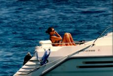 Crown Princess Victoria aboard a yacht at the French Riviera