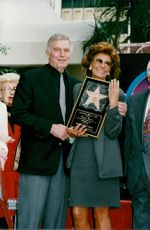 Sophia Loren got a star on Hollywood's Walk of Fame. Here with Charlton Heston