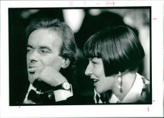 Martin Amis British novelist and rachael Kerr.