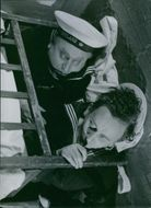 Thor Modéen and Ake Soderblom in a scene from the film