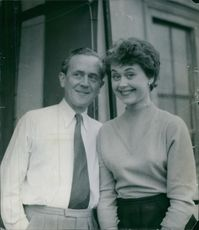 Ake Soderblom and Lena Soderblom striking a photo, 1955.