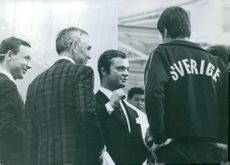 H.R.H. Crown Prince Carl Gustaf at EXPO site. 1970.