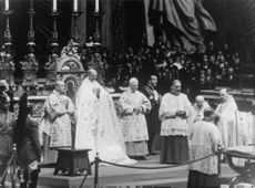 Pope Paul VI during a ceremony.