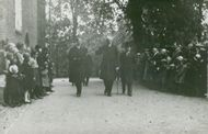 Prince Wilhelm and Carl on their way to the cathedral