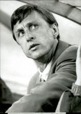 Portrait of the coach Johan Cruijff
