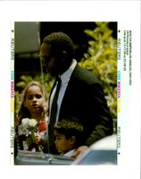 O. J. Simpson with Sydney and Justin Simpson.