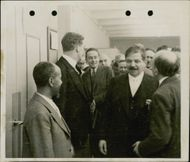 Portrait image of French politician Pierre Laval taken in an unknown context.