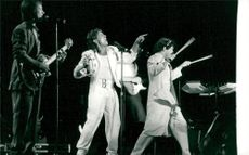 The Monkees appears. From left see Peter Tork, Davy Jones and Micky Dolenz