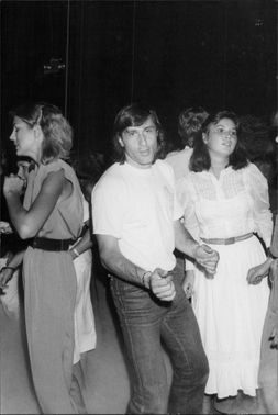 The tennis player Ilie Nastase at the nightclub Xenon in New York