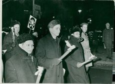 North-American Moscow Ambassador Nguyen Tho Chan and Olof Palme et al. Is in a UNL demonstration against the Vietnam War