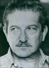 Portrait of General Ezer Weizman, 1977.
